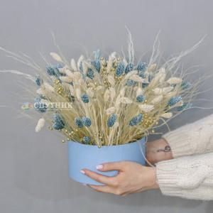 """Композиция из сухоцветов для интерьера """"Голубое золото"""" / 3'900 руб"""