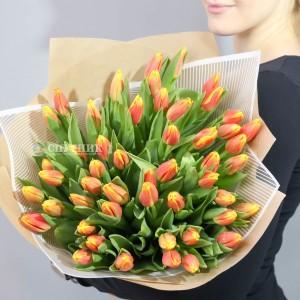 Букет тюльпаны красно-желтые 50 шт / 2'990 руб