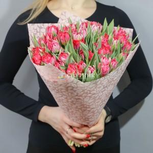 Букет тюльпаны красные махровые 50 шт / 3'900 руб