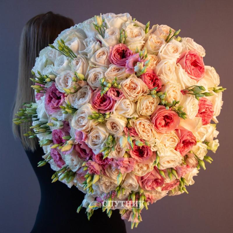 букет роз, букет из розовых и белых роз