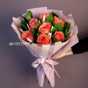 """Букет роз """"Корал"""" /1'500 руб"""