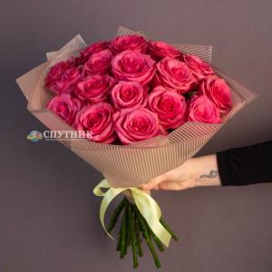 Букет розовые розы Лола 17 шт / 1'700 руб