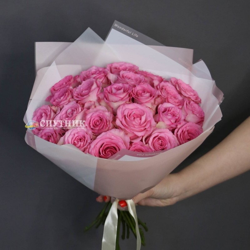 Букет из роз свит юник, букет из розовых роз