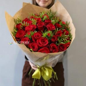 """Букет 25 роз """"Фридом"""" /3'000 руб"""