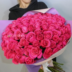Букет 101 роза Пинк Флойд / 21'000 руб