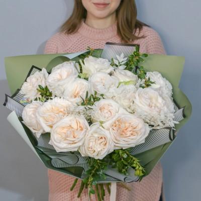 Букет 15 роз Вайт Охара / 3'900 руб