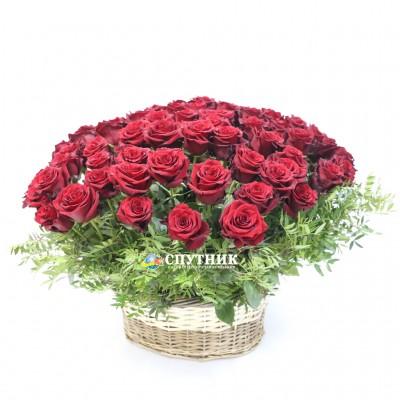 Букет в корзине 101 роза /13'500 руб