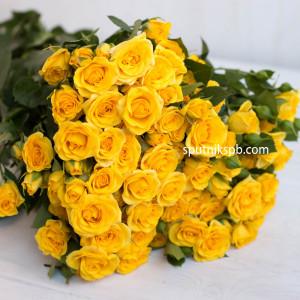 Кустовая роза Yellow Baby
